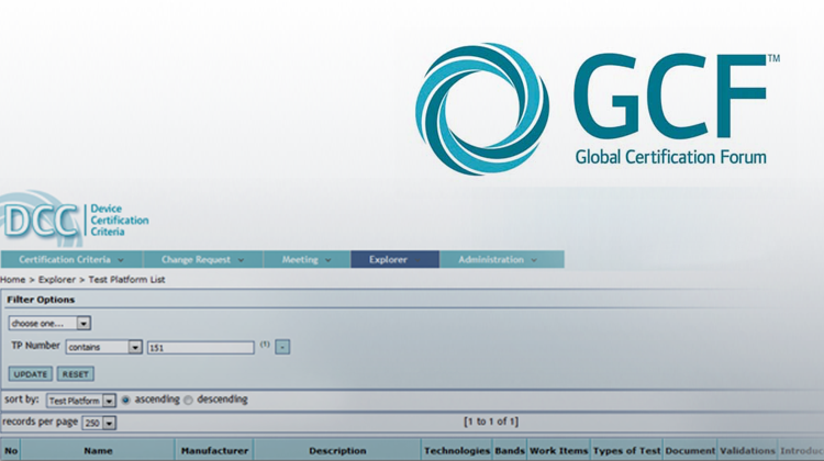 New GCF Test Platform: TP 151
