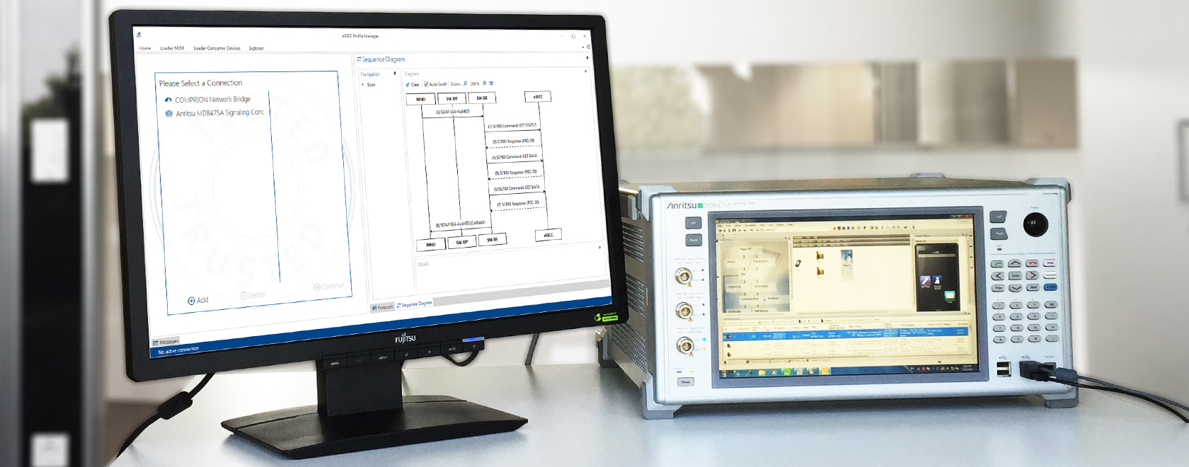 COMPRION eUICC Profile Manager Now with Anritsu Network Simulator Support