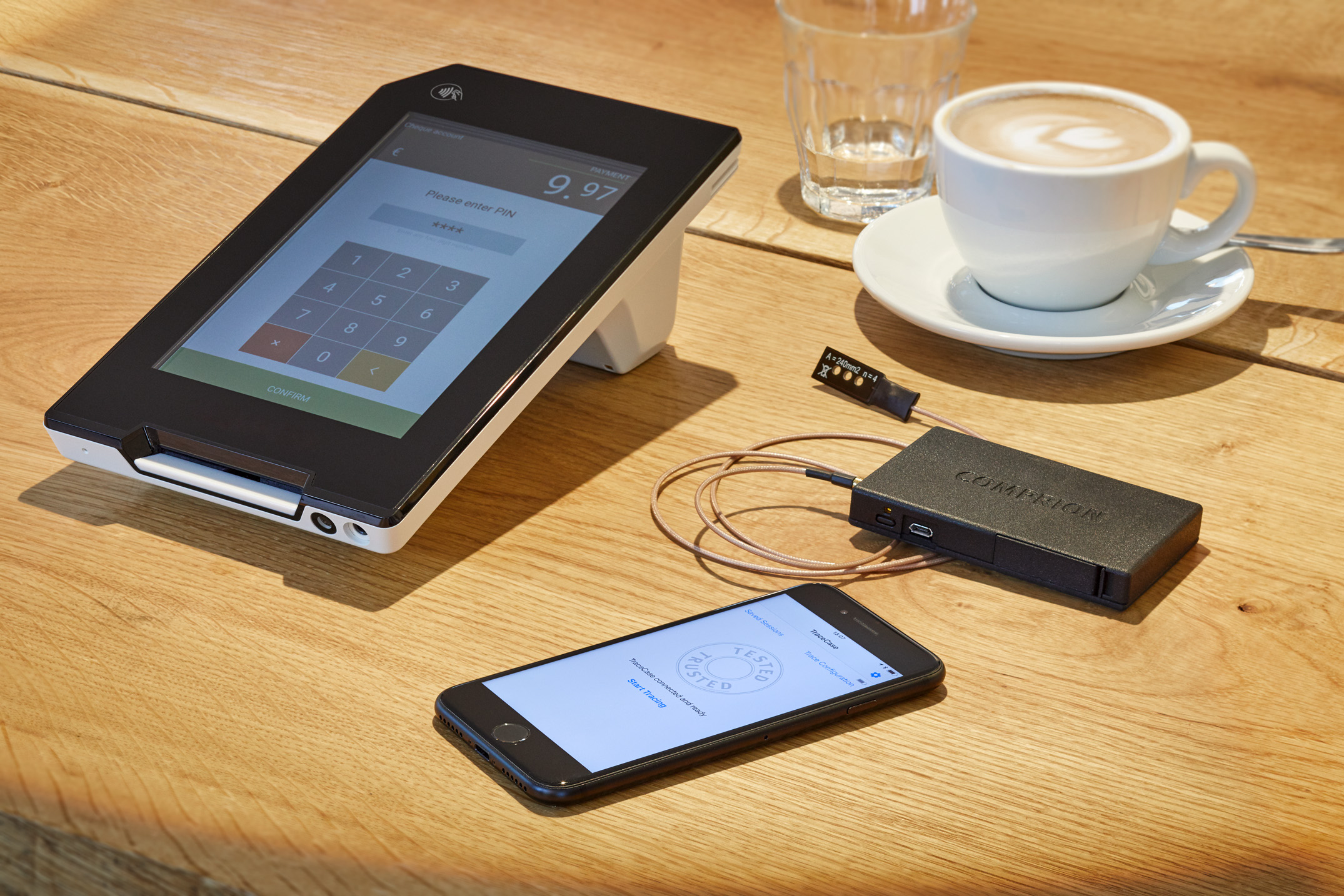 Trace Case a the smallest NFC contactless spy tool